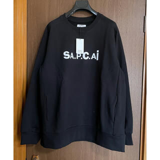 sacai - 希少XL新品 sacai A.P.C. メンズ スウェット シャツ 黒 サカイ