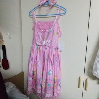 アンジェリックプリティー(Angelic Pretty)のトイファンタジー ジャンパースカート&カチューシャ ピンク(ひざ丈ワンピース)