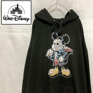 ディズニー(Disney)の〔希少〕ジェイソン×ディズニー プルオーバーパーカー ブラック XXL(パーカー)