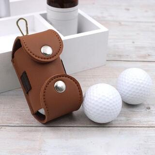 雨に強い全天候型【合成皮革】仕様のゴルフボールホルダー(バッグ)