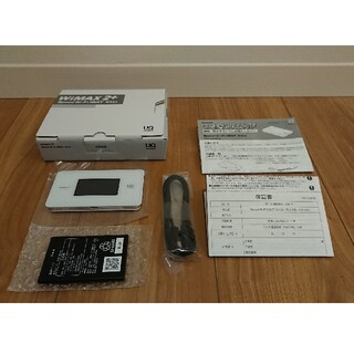 エヌイーシー(NEC)のWiMAX2+ Speed Wi-Fi NEXT WX06(その他)