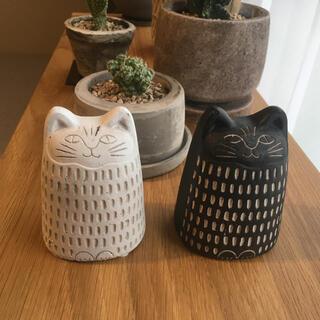 猫 置物 オブジェ 白黒セット(彫刻/オブジェ)