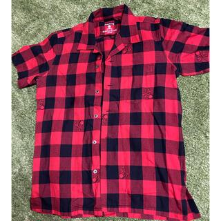 マスターマインドジャパン(mastermind JAPAN)のmastermind ブロックチェックシャツ 赤チェック フランネル ネルシャツ(シャツ)