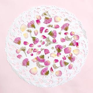 ピンク系 mix 花材 素材   スターチス 花材 ローズ バラ ドライフラワー(ドライフラワー)