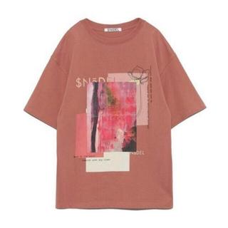 スナイデル(snidel)のSNIDEL デザインロゴTシャツ(Tシャツ(半袖/袖なし))