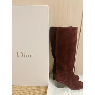 ディオール(Dior)の新品 Dior ディオール ブーツ バーガンディ 37.5(ブーツ)