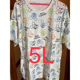 ミッキーマウス(ミッキーマウス)のミッキーマウス ネオン総柄 Tシャツ 5L(Tシャツ/カットソー(半袖/袖なし))