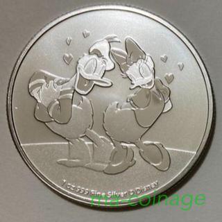 ディズニー(Disney)のドナルド&デイジー 1オンス銀貨BU 2021年ニウエ発行 カプセル別売り(貨幣)