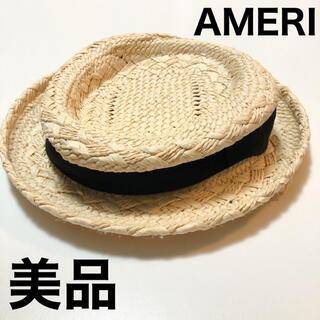 アメリヴィンテージ(Ameri VINTAGE)の美品 AMERI アメリ CHIBI STRAW HAT ストローハット(麦わら帽子/ストローハット)