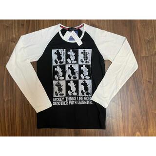 ディズニー(Disney)の【タグ付き新品未使用】 ミッキーマウス ロンT 長袖Tシャツ Mサイズ(Tシャツ/カットソー(七分/長袖))