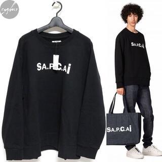 sacai - 21SS Sacai A.P.C. スウェット 黒XL新品 サカイ APC ロゴ