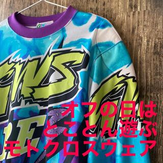 【GW SPORT】モトクロス ウェア ブルー・パープル系 L(モトクロス用品)