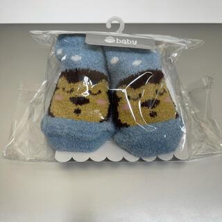 ベベ(BeBe)のe-baby ベビー用カップソックス ブルー BEBE キッズ ライオン(靴下/タイツ)