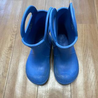 クロックス(crocs)のクロックス crocs レインブーツ 青 ブルー 長靴 18.5cm c12(長靴/レインシューズ)