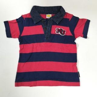 ムージョンジョン(mou jon jon)のムージョンジョン ポロシャツ レッド ネイビー 90cm(Tシャツ/カットソー)