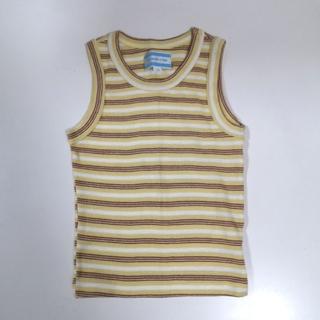 カドリール タンクトップ ストライプ イエロー ブラウン ホワイト 100cm(Tシャツ/カットソー)