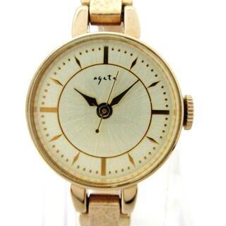 アガット(agete)のagete(アガット) 腕時計 - 2004 レディース(腕時計)