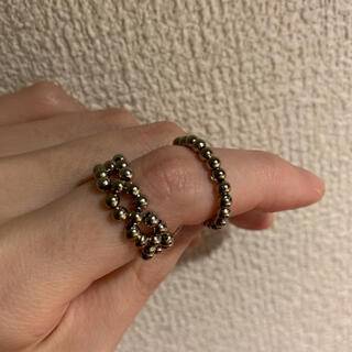 ザラ(ZARA)の2シルバーアクセサリー シルバーリング ビーズリング ビーズアクセサリー 韓国(リング(指輪))