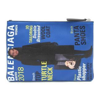 バレンシアガ(Balenciaga)の バレンシアガ クラッチバッグ スーパーマーケット ブルー(クラッチバッグ)