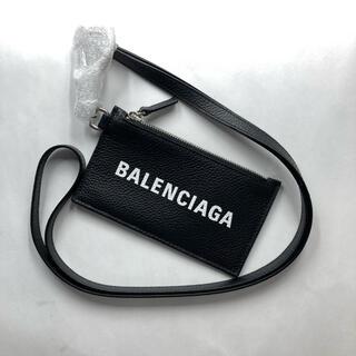 バレンシアガ(Balenciaga)のバレンシアガ ネックストラップ コインケース ブラック レザー(コインケース/小銭入れ)