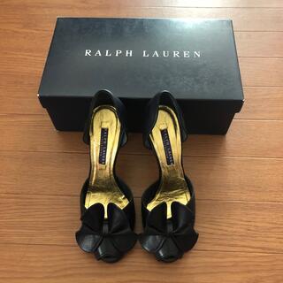 ラルフローレン(Ralph Lauren)のラルフローレン  ネイビー パンプス 超美品 サイズ5 1/2B(ハイヒール/パンプス)