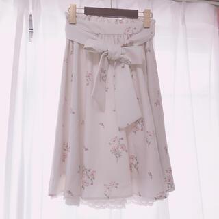 ロディスポット(LODISPOTTO)のロディスポット♥花柄 スカート Mサイズ(ひざ丈スカート)