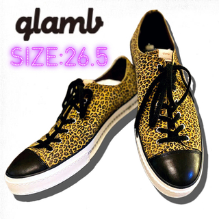 グラム(glamb)の【glamb】Hudson sneakers カウレザーレオパードスニーカー(スニーカー)