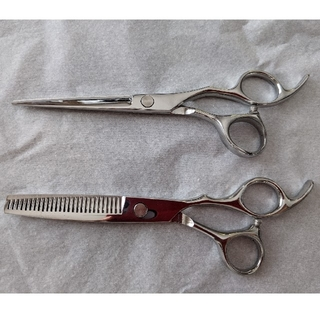 散髪 ヘアカット すきバサミ スキ率15% 髪切りはさみ ステンレス製