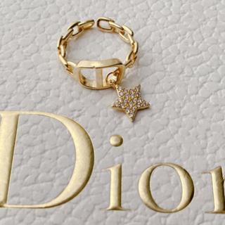 ディオール(Dior)の大人気♡ロゴリング チェーン スター モチーフ 新品未使用✨(リング(指輪))