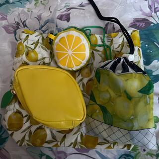 キタムラ(Kitamura)の《送料込◆約24000円《キタムラ》レモン🍋エコバッグ2&レモンバッグ2セット(エコバッグ)