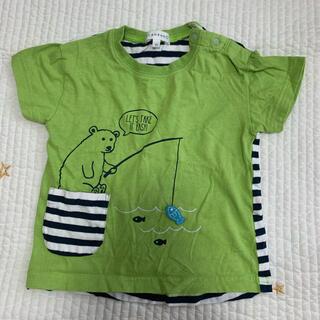 サンカンシオン(3can4on)の3can4on 黄緑Tシャツ90(Tシャツ/カットソー)