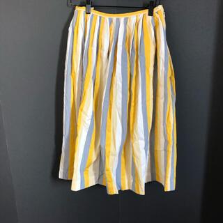 ミナペルホネン(mina perhonen)のsally scott ストライプスカート(ひざ丈スカート)