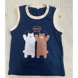 紺クマ柄 タンクトップ サイズ95(Tシャツ/カットソー)