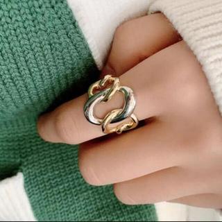 イエナ(IENA)の新品 シルバー×ゴールド ねじり 指輪 リング(リング(指輪))