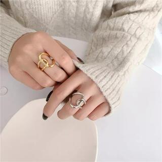 イエナ(IENA)の新品 シルバー ゴールド ねじり 指輪 リング(リング(指輪))