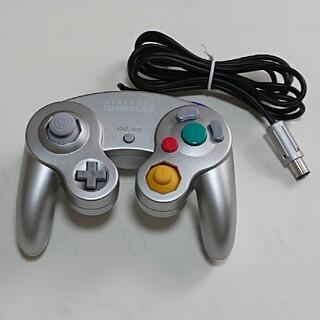 ニンテンドーゲームキューブ(ニンテンドーゲームキューブ)のゲームキューブコントローラ シルバー(その他)