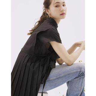 RANDEBOO No sleeve pleats shirts (Black)(シャツ/ブラウス(半袖/袖なし))