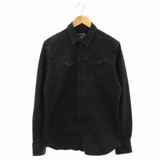 ジースター(G-STAR RAW)のジースターロウ シャツ ジャケット デニム ジップアップ M 黒 ブラック(その他)
