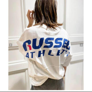 ドゥーズィエムクラス(DEUXIEME CLASSE)の♦︎新品タグ付♦︎ RUSSEL ATHLETICS/ バックプリントTシャツ(Tシャツ(長袖/七分))