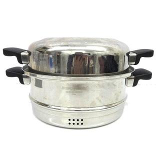 アザー(other)のアムウェイ クイーンクックウェア 6L ドーム型カバー蒸し器ステンレス 両手鍋(その他)