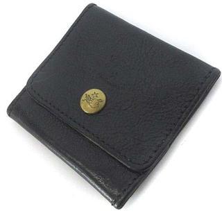 IL BISONTE - イルビゾンテ コインケース 小銭入れ スナップボタン レザー 牛革 黒