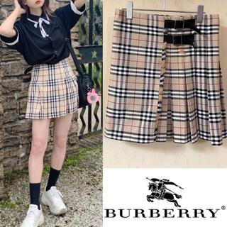 バーバリー(BURBERRY)の90's Burberryバーバリー スカート ノバチェックシャツ (ミニスカート)