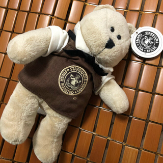 スターバックスコーヒー(Starbucks Coffee)の【タグ付き】スターバックス1号店限定 ベアリスタ (ぬいぐるみ)