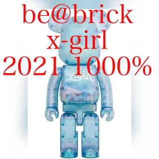 メディコムトイ(MEDICOM TOY)のbe@brick x-girl 2021 1000% ライトブルー(その他)