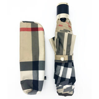 バーバリー(BURBERRY)の直営店購入 Burberry 折りたたみ傘 男女兼用 バーバリーチェック(傘)