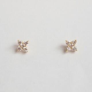 ポンテヴェキオ(PonteVecchio)のポンテヴェキオ ダイヤモンド ピアス フラワー 0.22ct K18YG 極美品(ピアス)