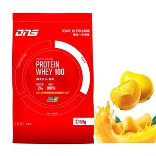 ディーエヌエス(DNS)のディーエヌエス ホエイ100 トロピカルマンゴー風味 3150g 90食入(プロテイン)