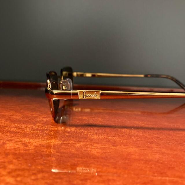 Harrods(ハロッズ)のヴィンテージ Harrods スクウェアフレーム サングラス ロイヤルワラント メンズのファッション小物(サングラス/メガネ)の商品写真