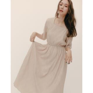 RANDEBOO Natural square dress (beige)(ロングワンピース/マキシワンピース)
