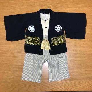袴ロンパース★羽織付き★70cm★男の子★(和服/着物)